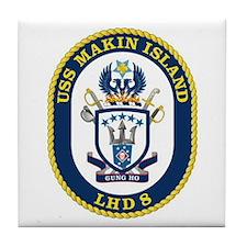 LHD 8 USS Makin Island Tile Coaster