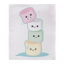 Stacked Marshmallows Throw Blanket