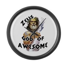Zeus God of Awesome Large Wall Clock