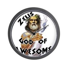 Zeus God of Awesome Wall Clock