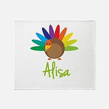 Alisa the Turkey Throw Blanket