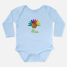 Alisa the Turkey Long Sleeve Infant Bodysuit