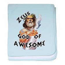 Zeus God of Awesome baby blanket