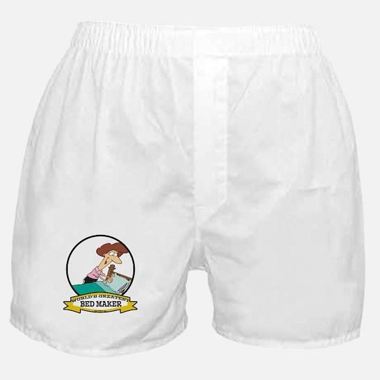 WORLDS GREATEST BED MAKER WOMEN Boxer Shorts
