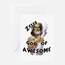 Zeus God of Awesome Greeting Card