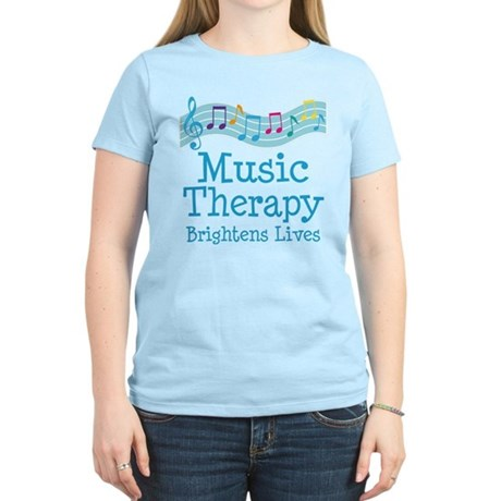 Music Therapy Colorful Women's Light T-Shirt