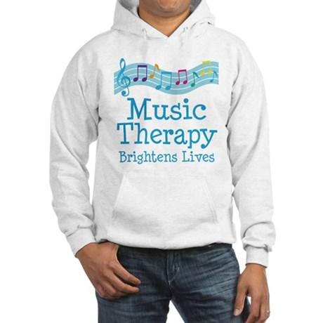 Music Therapy Colorful Hooded Sweatshirt