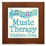 Music therapy Framed Tiles