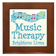 Music Therapy Colorful Framed Tile