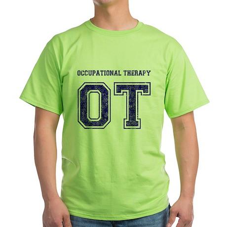 Team OT (Navy) - Green T-Shirt