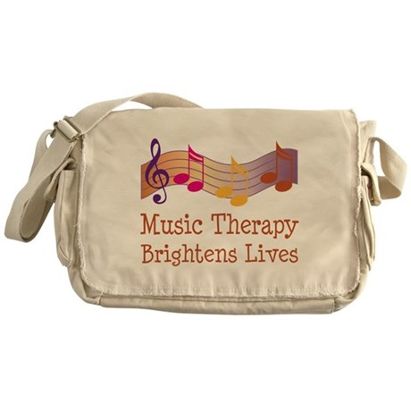Music Therapy Quote Messenger Bag