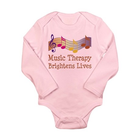 Music Therapy Quote Long Sleeve Infant Bodysuit