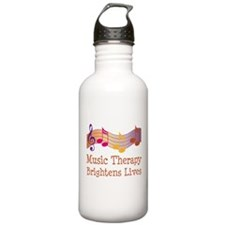 Music Therapy Quote Water Bottle