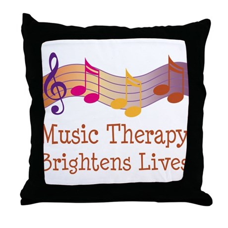 Music Therapy Quote Throw Pillow