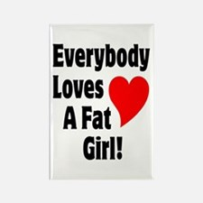 Everybody Loves A Fat Girl Rectangle Magnet