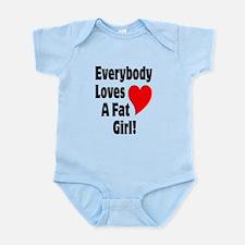 Everybody Loves A Fat Girl Infant Bodysuit
