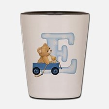 Teddy Alphabet E Blue Shot Glass