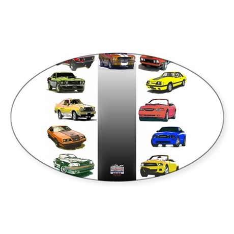 Mustang Gifts Sticker (Oval)