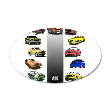 Mustang Gifts 22x14 Oval Wall Peel