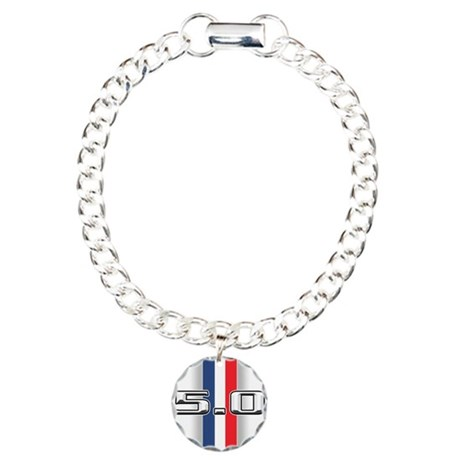 Mustang Gifts Charm Bracelet, One Charm