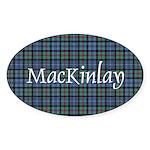 Tartan - MacKinlay Sticker (Oval)