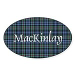 Tartan - MacKinlay Sticker (Oval 10 pk)