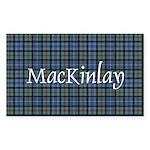 Tartan - MacKinlay Sticker (Rectangle 10 pk)