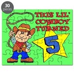 Little Cowboy Turned Five Puzzle