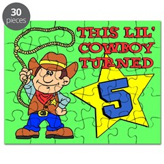 Little Cowboy Turned Five Puzzle