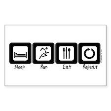 Sleep- Run- Eat- Repeat Rectangle Decal