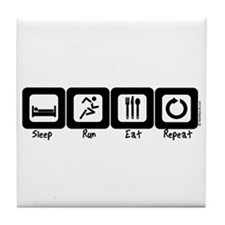 Sleep- Run- Eat- Repeat Tile Coaster