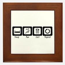 Sleep- Run- Eat- Repeat Framed Tile