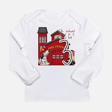 Fireman Birthday Long Sleeve Infant T-Shirt