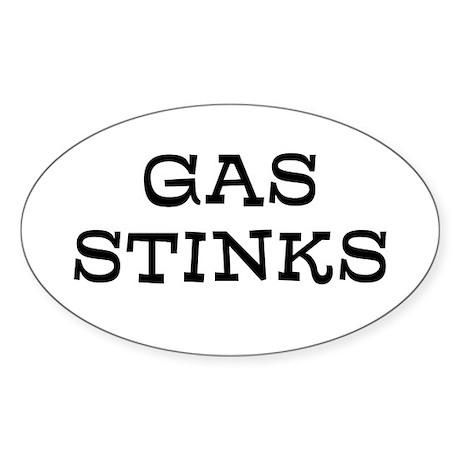 Gas Stinks Sticker (Oval)