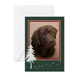 Chocolate Lab Portrait Painting Holiday Cards (10)