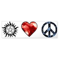 Peace Love SPN Bumper Sticker