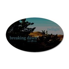 Twilight Breaking Dawn Sand D 22x14 Oval Wall Peel