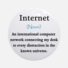 Internet Definition Ornament (Round)