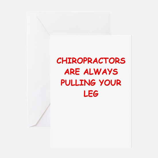 chiropractor joke Greeting Card