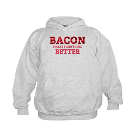Bacon makes everything better Kids Hoodie