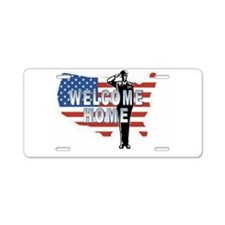 Welcome Home Military Aluminum License Plate
