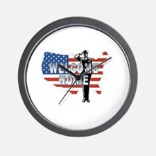 Welcome Home Military Wall Clock