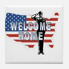 Welcome Home Military Tile Coaster
