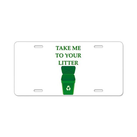 garbage man joke Aluminum License Plate