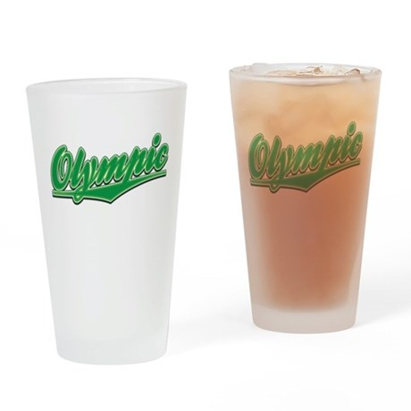 Olympic Tackle and Twill Drinking Glass