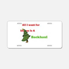 Funny Truckers wife Aluminum License Plate