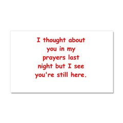 prayer joke gifts Car Magnet 20 x 12