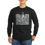 StopNYFrackLg_WhtTxt Long Sleeve T-Shirt