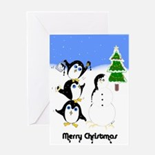 Painting Penguins Chrismas