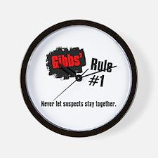 NCIS Gibbs' Rules #1 Wall Clock